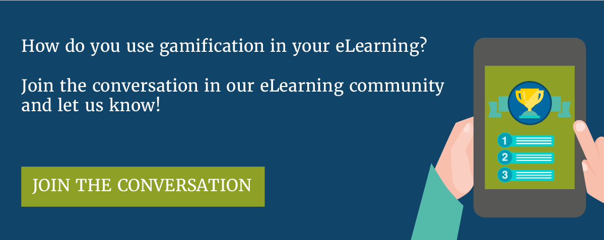 How do you use gamification in your eLearning? Join the conversation in our community