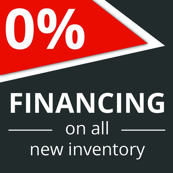 0% financing on all new inventory