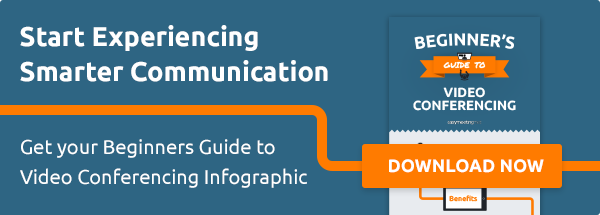 get your beginner's guide to video conferencing infographic