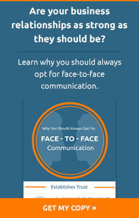 Learn why you should always opt for face to face communication - Infographic