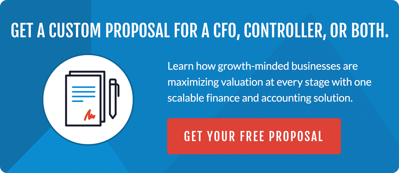 Get a free custom proposal for a CFO, Controller or both.