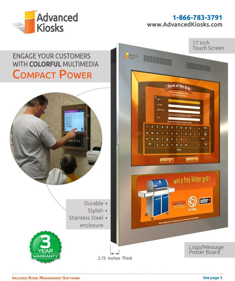 Compact Power Interactive Kiosk