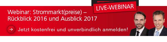 Live Webinar Strommarkt