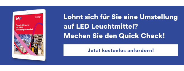 Quick Check LED Leuchtmittel Einsparpotenzial