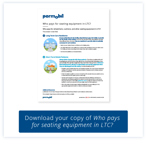 Download your copy of Who pays for seating equipment in LTC?