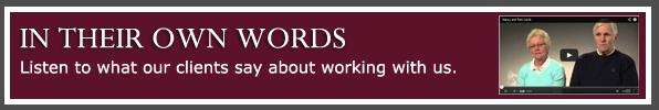 Listen to client testimonials