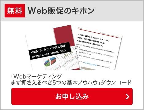 Web販促のキホン「Wbbマーケティングまず押さえるべき5つの基本ノウハウ」ダウンロード