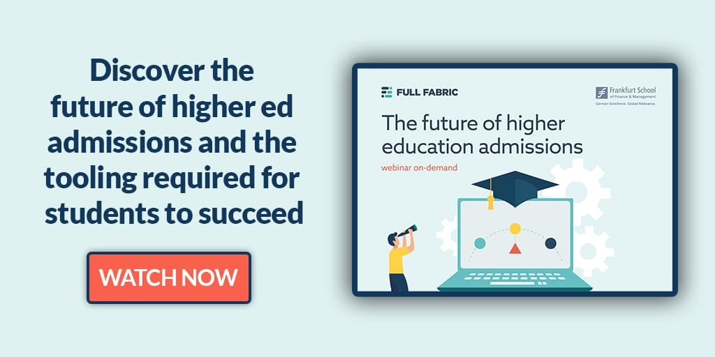 the future of higher ed admissions webinar