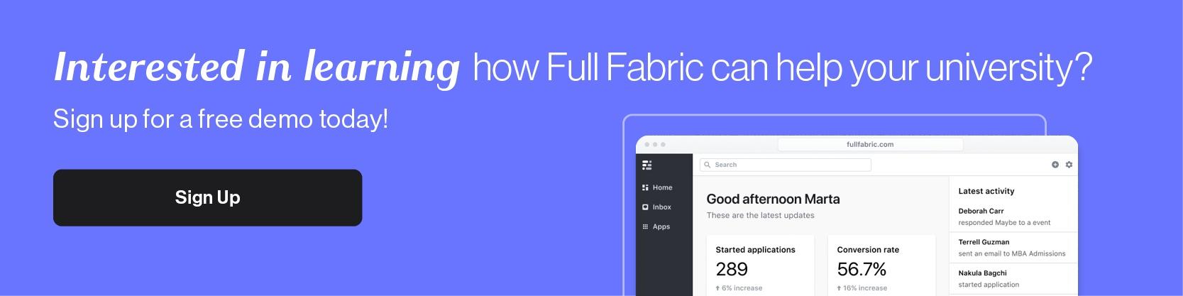 Full Fabric Demo