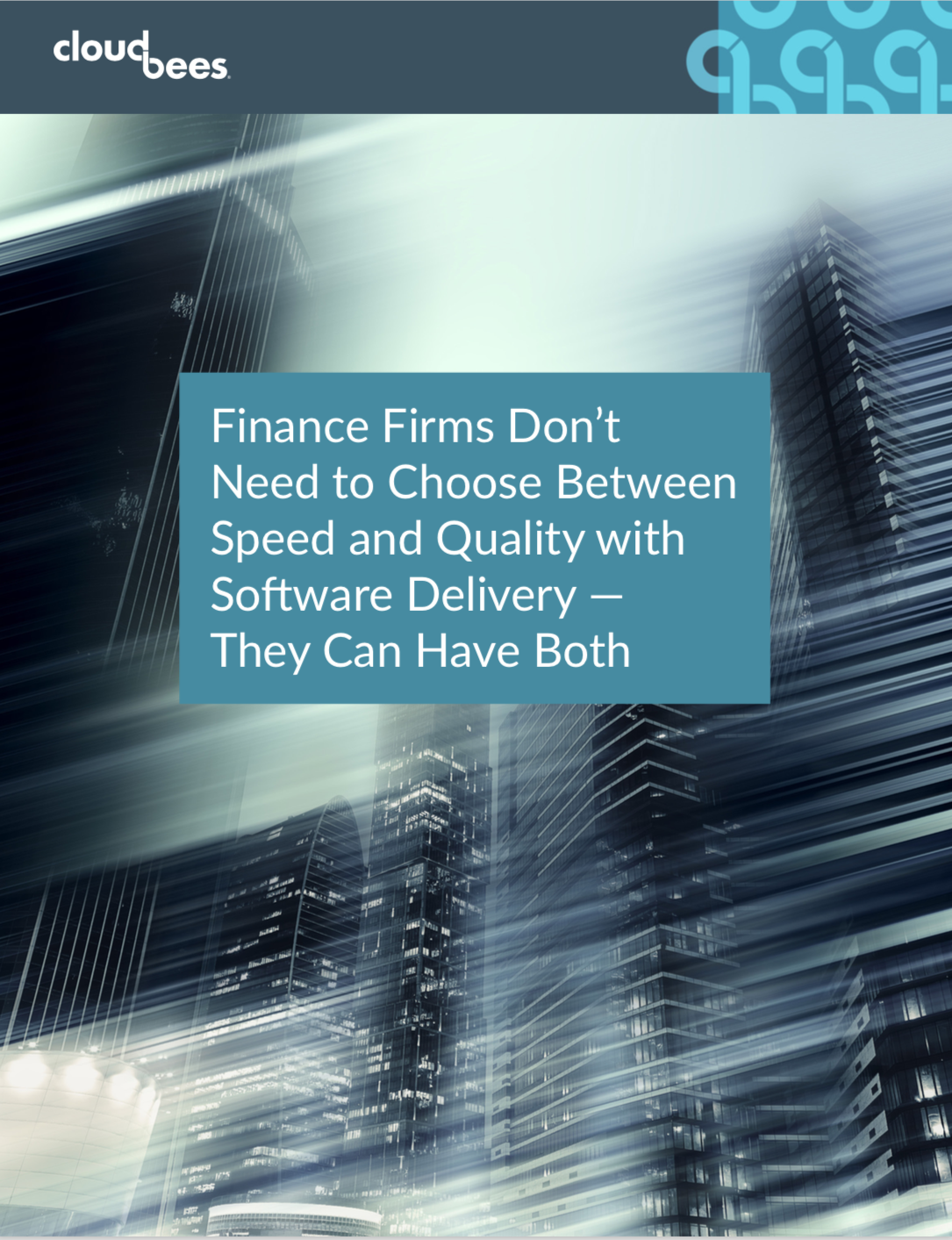 Finance Firms Don't Need to Choose Between Speed and Quality with Software Delivery