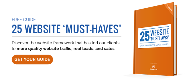 25 Website Must-Haves CTA