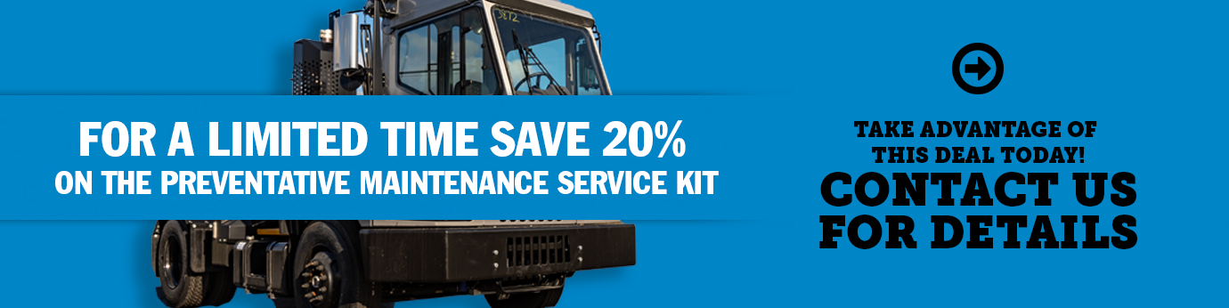 For a limited time, save 20% on the preventative maintenance service kit! Take advantage of this deal today! Contact us for Details