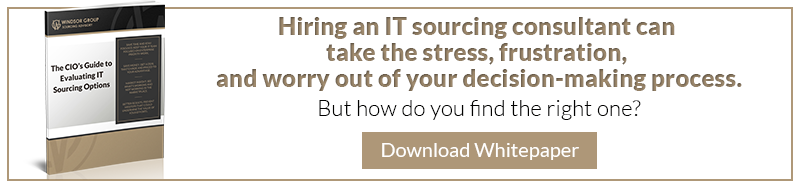 The CIO's Guide to Evaluating IT Sourcing Options, The Windsor Group