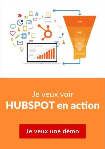 Je veux voir HUBSPOT en action  Je veux une démo