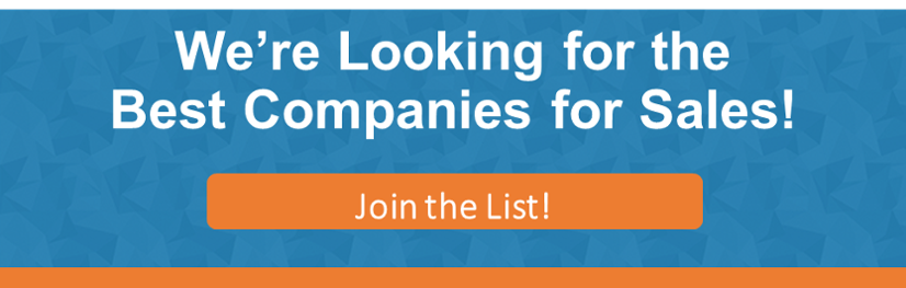 Join our list for the Best Companies for Sales