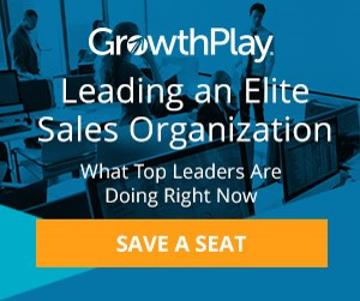 Register for our Webinar on Leading an Elite Sales Organization