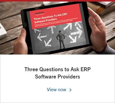 Three Questions to Ask ERP Software Providers