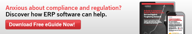 Anxious about compliance and regulation? Discover how ERP software can help.