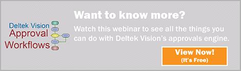 Deltek Vision Approvals Engine