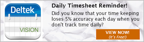 Deltek Vision custom solution, Daily Timesheet Reminder