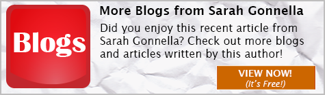 Blogs and Articles written by Sarah Gonnella