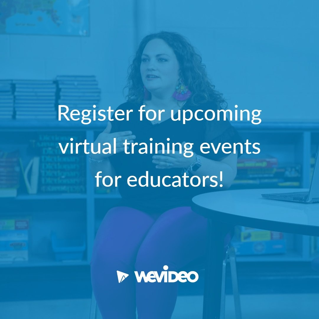 Register for upcoming virtual training events for educators!