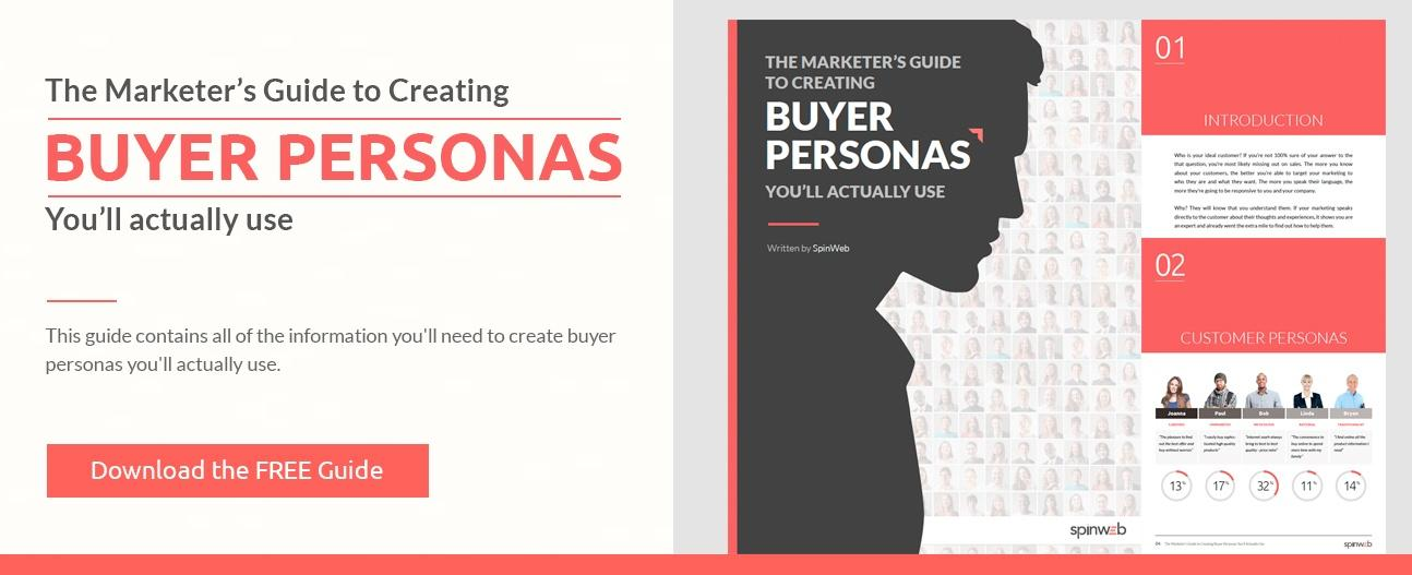 the marketers guide to creating buyer personas cover image download now