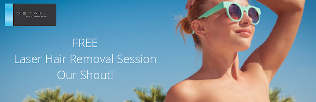 Try a free laser hair removal session on Detail Smoother Skin