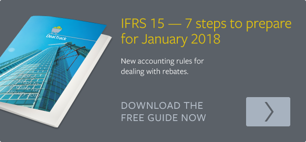 IFRS 15 - new accounting rules for dealing with rebates