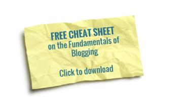 fundamentals of blogging cheat sheet