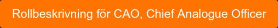 Rollbeskrivning för CAO, Chief Analogue Officer