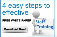 4 East steps to effective staff training. Download this free whitepaper now!