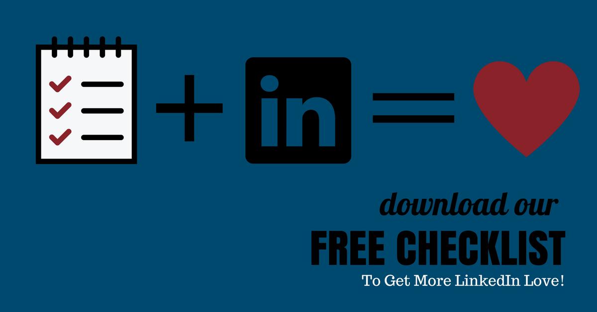 Project a professional online image - get LinkedIn love!
