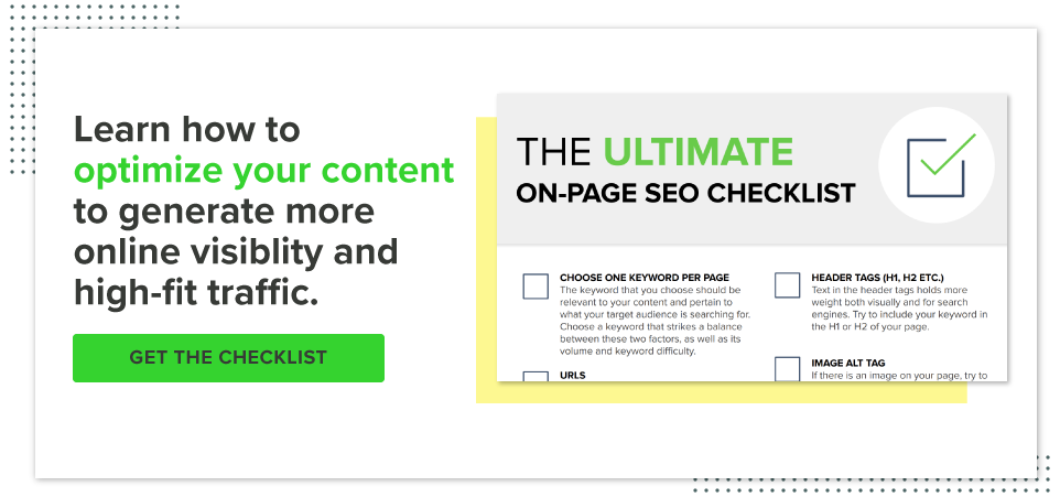 Download your SEO checklist
