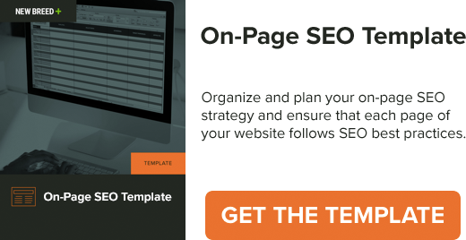 On-Page SEO Template Visual CTA