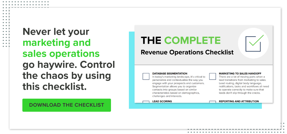 Revenue Operations Checklist