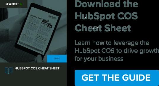 HubSpot COS Cheat Sheet