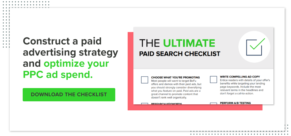 Check out our paid search checklist