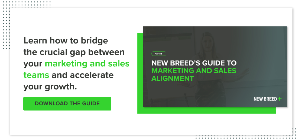 Download New Breed's guide to marketing and sales alignment.