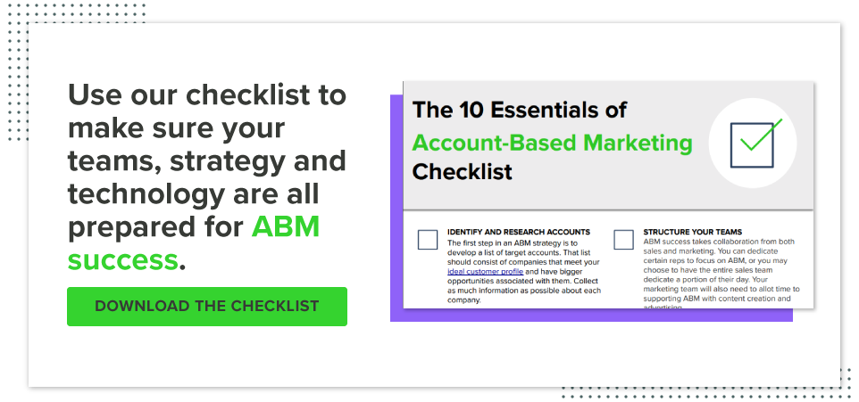 Account-Based Marketing Checklist