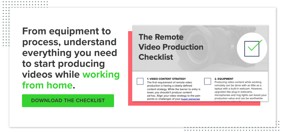 Download your Remote Video production checklist