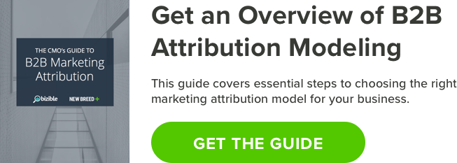 CMO guide to B2B attribution modeling