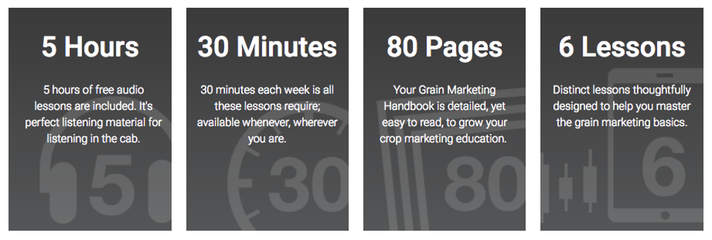 what is included in the grain marketing course