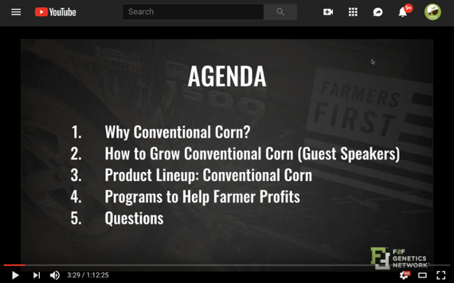 best practices when growing conventional corn webinar youtube play screenshot