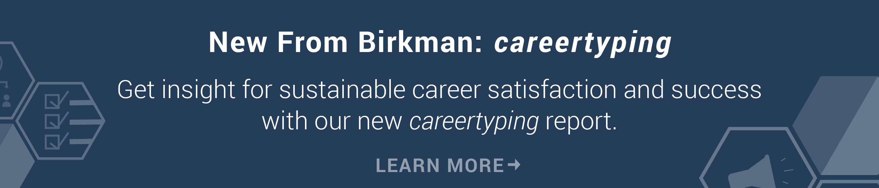 New from Birkman: careertyping Report