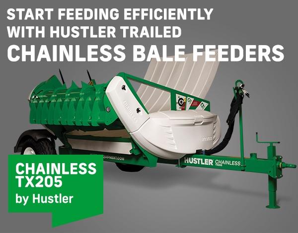 Hustler Trailed Chainless Bale Feeders