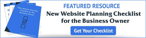 Get your New Website Planning Checklist for Business Owners