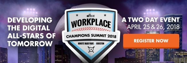 Register for Workplace Champions Summit 2018