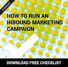 Free checklist to run inbound marketing campaign