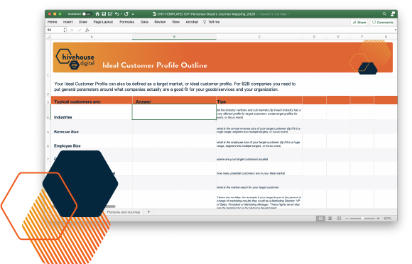 customer profile template excel